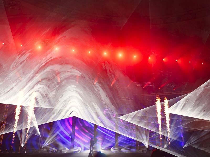 visualisatie met lasers